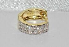 NEW Men's Solid 9ct Yellow Gold Diamond Huggie Cuff Hoop Earring
