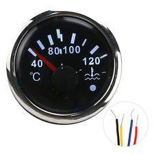 52mm Cooling Water Temperature Gauge 40‑120℃ Smart Alarm IP67 12V/24V 190ohm