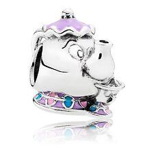 DISNEY Mrs Potts & Chip Theme park pendant charm solid silver brand new