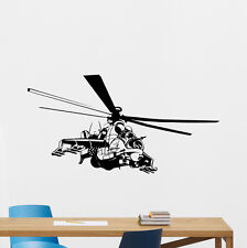 Helicopter Wall Decal Military Vinyl Sticker Poster Stencil Nursery Decor 65hor