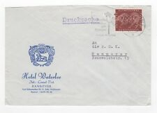 1960 GERMANY Cover HANNOVER Hotel Waterloo SLOGAN Commercial