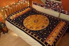 Astrology Zodiac Hippie Tapestry Twin Indian Horoscope Wall Hanging Bedspread AU