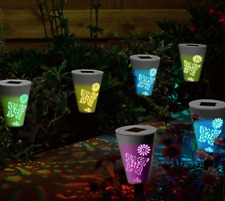 6X Solar Garden Silhouette Butterfly Lights Fairy Magic Path Colour Blinks/White