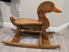 Custom Wood Wooden Rocking Duck For Play Or Display Vintage Handmade Antique
