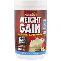 Naturade, Weight Gain, Instant Nutrition Drink Mix, Vanilla, 20.3 Oz (576 G)