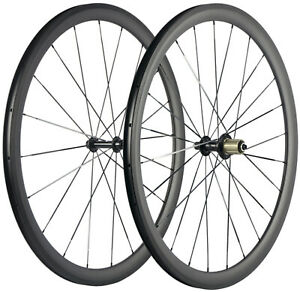 38mm Carbon Wheels Road Bike Cycling Carbon Wheelset 25mm U Shape Clincher UD