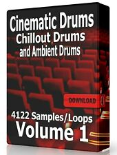 Cinematic Chillout and Ambient Drum Loops Pro Tools FL Studio Ableton Logic WAV