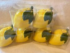 Lemons Salt & Pepper Ceramic Shakers New Lemon One Set