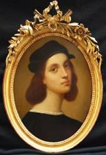 Fine 19thC Old Master Portrait after Raphael 1483-1520 Antique Oil Painting