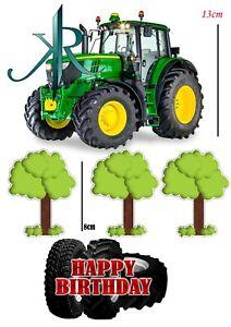 Traktor grün ,13cm Tortenaufleger,Geburtstag,Tortendeko