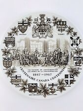 Wood & Sons Ironstone Fathers Confederation Canada Flow Brown Centennial Plate