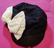 Girls Elastafit One Size Fits Most White Bow Hat Cap Small Kids