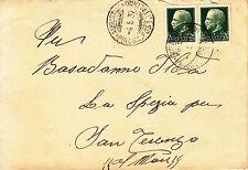 REGNO-AUGUSTUS Piroscafo Postale Italiano-Busta coppia 25 cent Imperiale 4.5.37