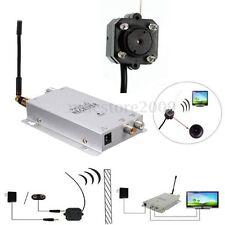 Mini Pinhole/Micro CCTV Camera & Receiver Security IR Night Vision Wireless Cam