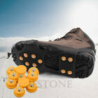 New 10-Stud Snow Ice Climbing Anti Slip Spikes Grips Crampon Cleats Shoes Cover