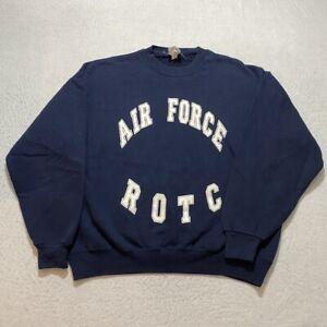 Vintage Air Force Sweatshirt Size XL Blue Jerzees ROTC Military Crewneck Mens