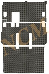VW TRANSPORTER 5 SHUTTLE LWB 2011 -15 TAILORED RUBBER MAT in 3MM & 5MM THICKNESS