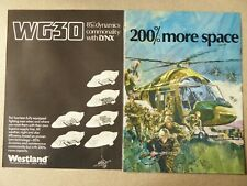 6/1979 PUB WESTLAND HELICOPTERS WESTLAND WG 30 HELICOPTERE BRITISH ARMY AD