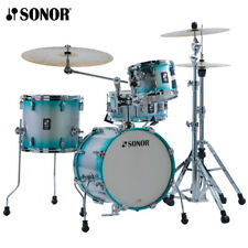 NEW Sonor AQ2 Series 4 Piece SAFARI Drum Set Shell Pack Aqua Silverburst