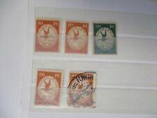 DEUTSCHES REICH 1912 Auswahl Flugpostmarken * / gestempelt