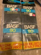 NEW / Sealed BASF 90 Studio Series 8-Track Tape LOT OF 4 Cartridges 90 Minute Ea
