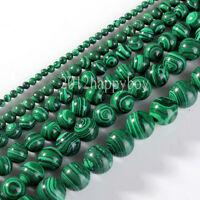 Semi Precious Green Malachite Gemstone Round Loose Spacer Beads 5/10/20/30/40PCS
