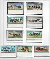 s22066) HUNGARY 1968 MNH** Nuovi** Horses 8v IMPERFORATED