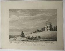 Gravure XVIIIe MICHAEL ANGELO ROOKER 1777 SANDBY Cumberland Shrubs Hill Windsor