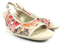 Aerosoles Dozen Roses Wedge Slingback Open Toe Womens Sandals  8.5 Wide