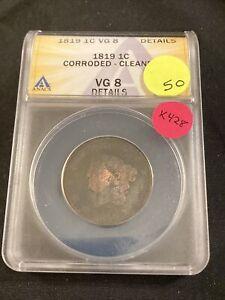 1819 Large Cent K428