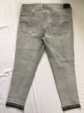 NWT NEW AE American Eagle Jegging Ankle Crop Capri Gray 14 Short 14 Petite