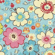 Happy Flappers Main Blue by Kelly Panacci  for Riley Blake, 1/2 yd cotton fabric