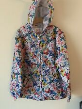 Girls TU Waterproof Raincoat Age 9-10 Butterfly Print New With Tags