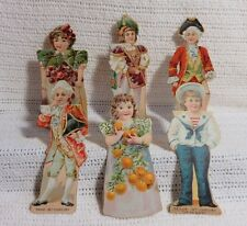 antique barbour's irish flax threads paper dolls  (choice of 1)