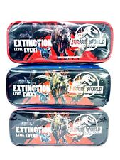 Jurassic World Extinction Level Event Authentic Licensed Pencil Case-3 Pack