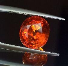 7.63cts Unbelievable Luster Natural Fanta Spessartite Garnet Ring Size Gemstone