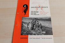 144644) Rabewerk Dreipunkt Anbau-Beetpflüge Prospekt 09/1954