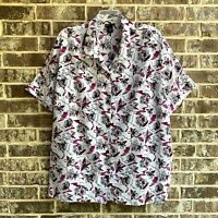 Maggie Barnes Women's Plus Short Sleeves Crinkle Shirt Top Size 5X