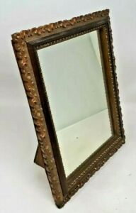 Antique Wooden Gilt Finish Vanity Table Mirror 30.5  x 25.5 cms