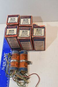 LOT OF 7 Vintage NOS  Mallory Capacitors 3S-579