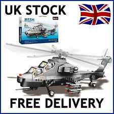 WZ-10 ARMY MILITARY HELICOPTER BUILDING BRICKS BLOCK EDUCATION CREATE COMPATIBLE