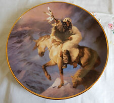Spirit Of The North Wind Franklin Mint Plate Western Heritage Museum 8 1/4""