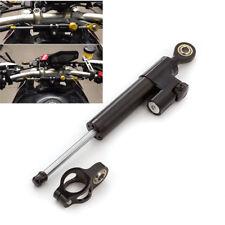 1x Black CNC Aluminum Universal Motorcycle ATV Steering Damper Stabilizer 25.5cm