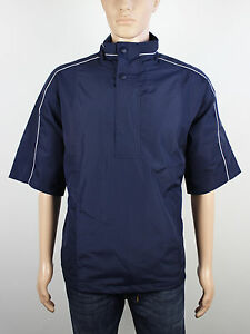 NEW Firethorn Golf Size S M L XL XXL 3XL Blue Black Pullover Short Sleeve Jacket