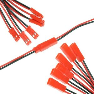 10-40cm RCY 2.5mm 2-pin Assembled Connector Cables 24AWG - RC Battery Power JST