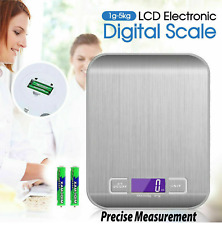 LCD Stainless Kitchen Cooking Food Electronic Digital Scale Weight 5kg 1g
