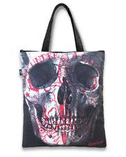 Liquor Brand Tattooed Skull Punk Goth Rocker Tote Bag Adult Womens Purse TB-021