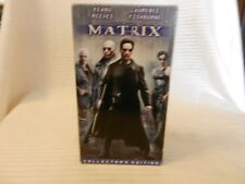The Matrix (VHS, 1999, Collectors Edition) Keanu Reeves, Laurence Fishburne