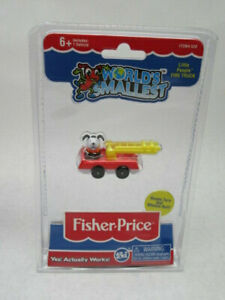 Worlds Smallest Fisher Price Little People Fire Truck Working Toy Mini Replica