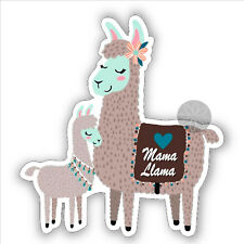 Mama Llama for Mum Mom mummy mother and baby vinyl stickers car bumper 84 mm